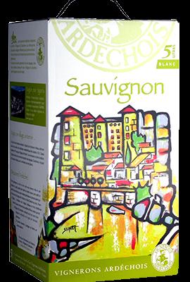BIB IGP Vignerons Ardechois 5L Sauvignon Blanc title=