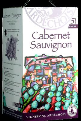 BIB IGP Vignerons Ardechois 5L Cabernet Sauvignon title=