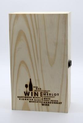 Hộp quà tặng gỗ đôi WeWine (Nắp mở) title=