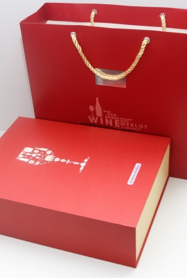 Double exclusive wine box (including papger bag) title=