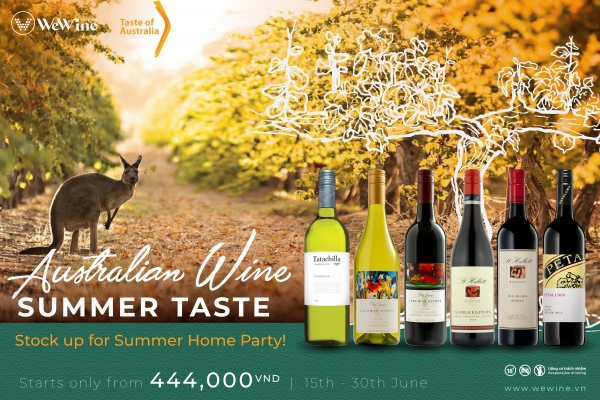 Enjoy summer taste with Australian wines