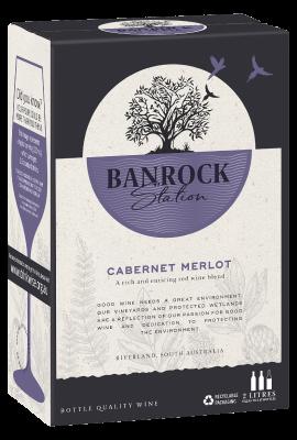 BIB Banrock Station Cabernet Merlot 2L title=