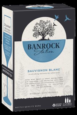 BIB Banrock Station Sauvignon Blanc 2L title=
