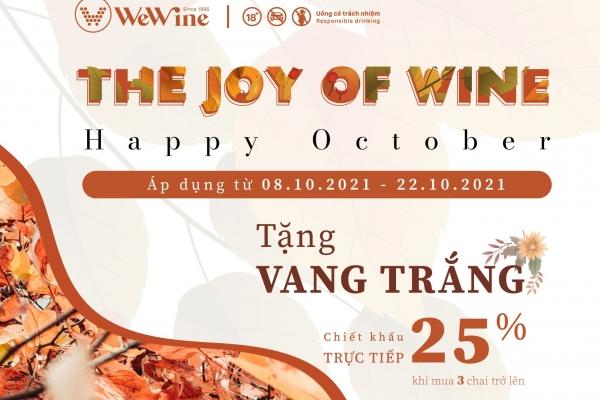 Promotion The Joy of wine happy October